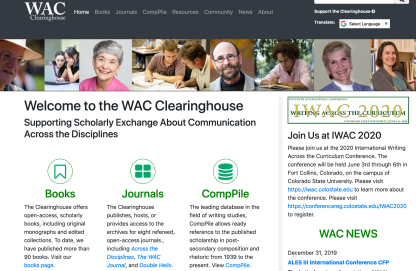 WAC Clearinghouse Site
